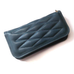 CowHide Padded Wallet   Turquoise color Aniline finish
