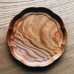 8寸 輪花皿(四十沢木材工芸)