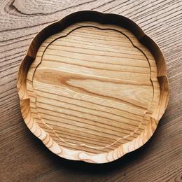 9寸 輪花皿(四十沢木材工芸)