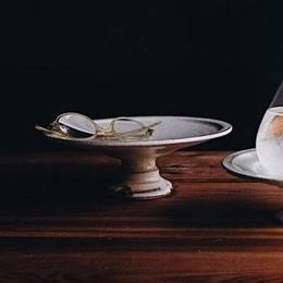鉄散コンポート皿 18cm(古谷製陶所)