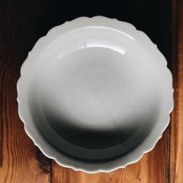 桔梗スープ皿 200mm / 貫入白磁  (KATAKUTANI)