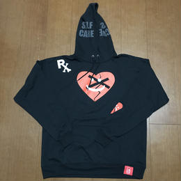 "FMHI PAINKILLER ""Happy Sad"" LOGO Hoodie BLACK"