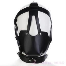PUレザーハーネス 革 口枷 ボール口 ボンテージマスク 緊縛 ギャグマスク 仮装 コスプレ フェチ SMグッズ♪ A1319