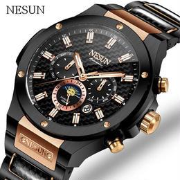 Nesun 海外高級ブランド アナログ 腕時計 メンズ 自動機械式 【 カラー:3色 】 50m防水 クロノグラフ ビジネス フォーマル A1330-2