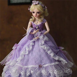 60cm 1/3 サイズ パープルドレス プリンセス かわいい女の子 球体関節人形 BJD カスタムドール リアルドール A1308