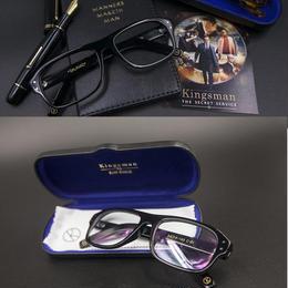 Kingsman Glasses キングスマン 黒縁メガネ コリン・ファース タロン・エガートン ブラック Replica 眼鏡 サングラス 黒 新品 A1315