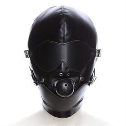 PUレザー 革 口枷 ボール口 ボンテージマスク Ver2 緊縛 ギャグマスク 仮装 コスプレ フェチ SMグッズ♪ A1321