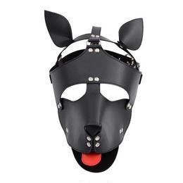PUレザー ドッグヘッド 2色 ハーネス ボンテージマスク 緊縛 ギャグマスク 仮装 コスプレ フェチ SMグッズ♪ A1324