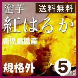 【規格外】鹿児島県産さつま芋【紅はるか】5Kg/箱【送料無料】