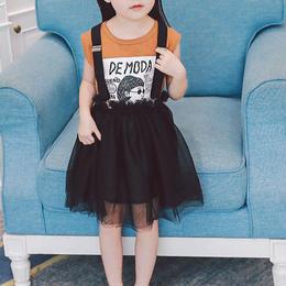 Tシャツ&チュールスカート 3点セット