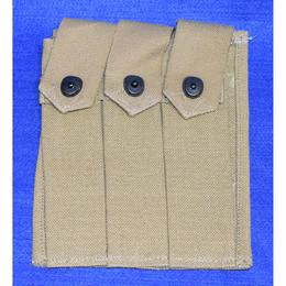 (複製品)WW2 米軍トンプソン用3連マガジンポーチ