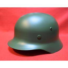 WW2ドイツ軍M35ヘルメット(鉄製レプリカ)ダークグリーン