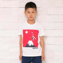 スケボー富士 T-Shirts WHITE GRY