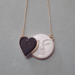 【ANDRESGALLARDO】 MOON HEART NECKLACE ブラック