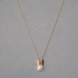 【BENEDICTE】 Rabbit Pearl Necklace ゴールド