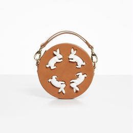 【ANDRESGALLARDO】 Round Rabbit Bag キャメル