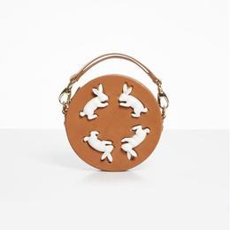 【ANDRESGALLARDO】 Round Rabbit Bag キャメル