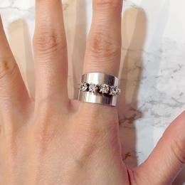 【Soierie】plate bijou ring (short)