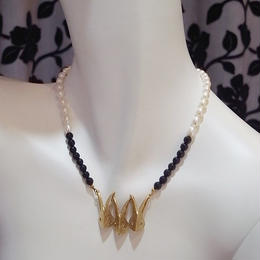 【CULOYON】 3 Bunny Onyx Pearl ネックレス