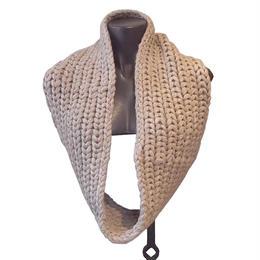 【karakoram accessories】 ベビーアルパカスヌード キャメル ミディアムロング