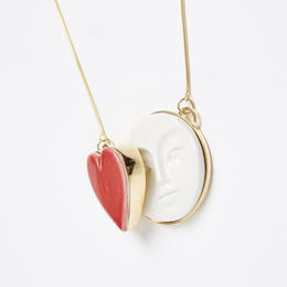 【ANDRESGALLARDO】 MOON HEART NECKLACE レッド