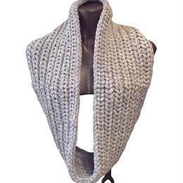【karakoram accessories】 ベビーアルパカスヌード グレー ミディアムロング