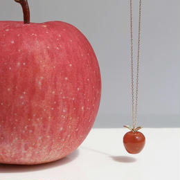 【KOMI】Gemstone Apple Necklace