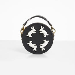 【ANDRESGALLARDO】 Round Rabbit Bag ブラック