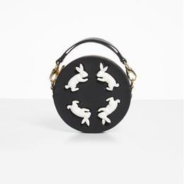 【ANDRESGALLARDO】 Round Rabbit Bag ブラック