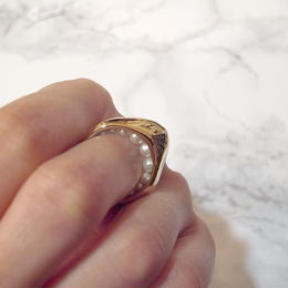 【Soierie】stream pearl ring