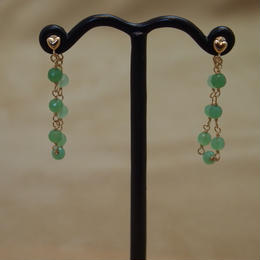 Chrysoprase Loose Hoop Earrings