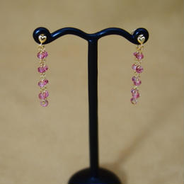 PinkTopaz LooseHoop Earrings