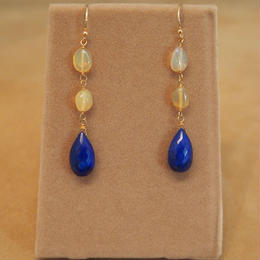 Lapis&Opal Design Earrings