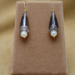 Smoky Quartz Design Earrings