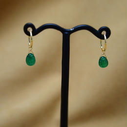 Emerald Simple Earrings(foop)