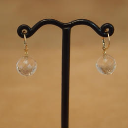 White Topaz German Earrings