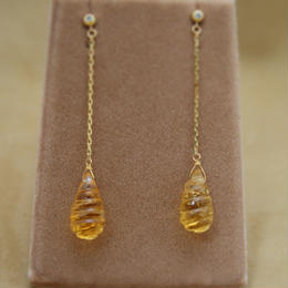 Citrine Line Earrings(d/p)