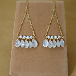White Labradorite  Chandelier Earrings
