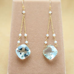 GreenAmethyst Design Earrings(c/c)