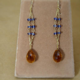 Citrine&Iolite Design Earrings