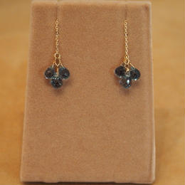 London Blue Topaz Chain Earrings
