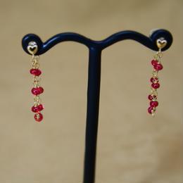 Red Spinal Loose Hoop Earrings
