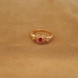 Heart Ruby Ring