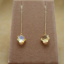 Citrine StarCut Chain Earrings