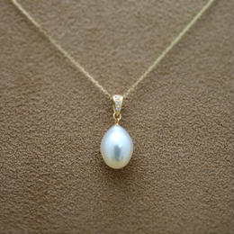 South Sea Pearl Pendant Top(+Diamond)
