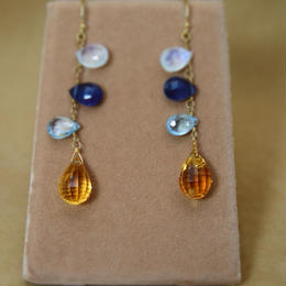 Ctrine&ColorStone Earrings