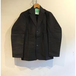 40's〜50's Le Mont Saint Moltin Black Moleskin Lapel Jacket ペーパータグ付き Dead Stock