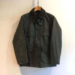 80's 2 Crest Barbour 4Flaps Pockets BEDALE NAVY 38