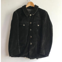 50's Heavy Corduroy Animal Buttons Hunting Jacket