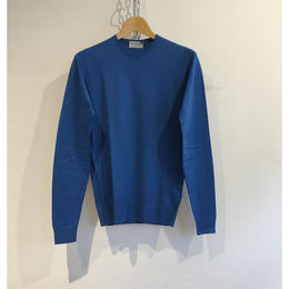 "JOHN SMEDLEY ""LUNDRY Pullover"" Breton Blue Fine Merino Wool"